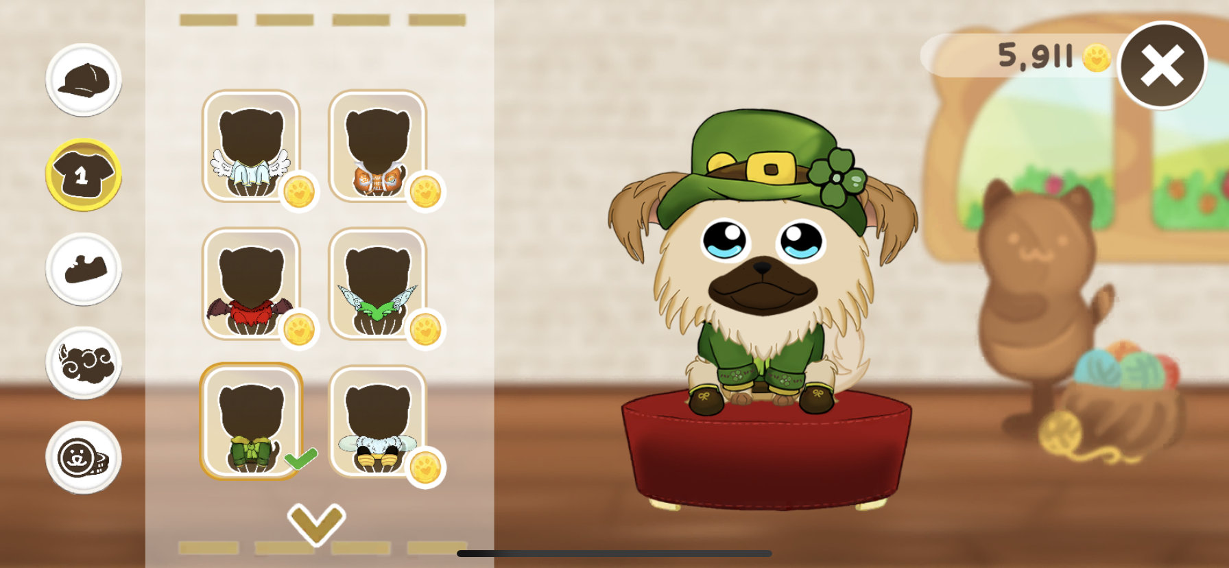 You can shop for outfits for your virtual pet!