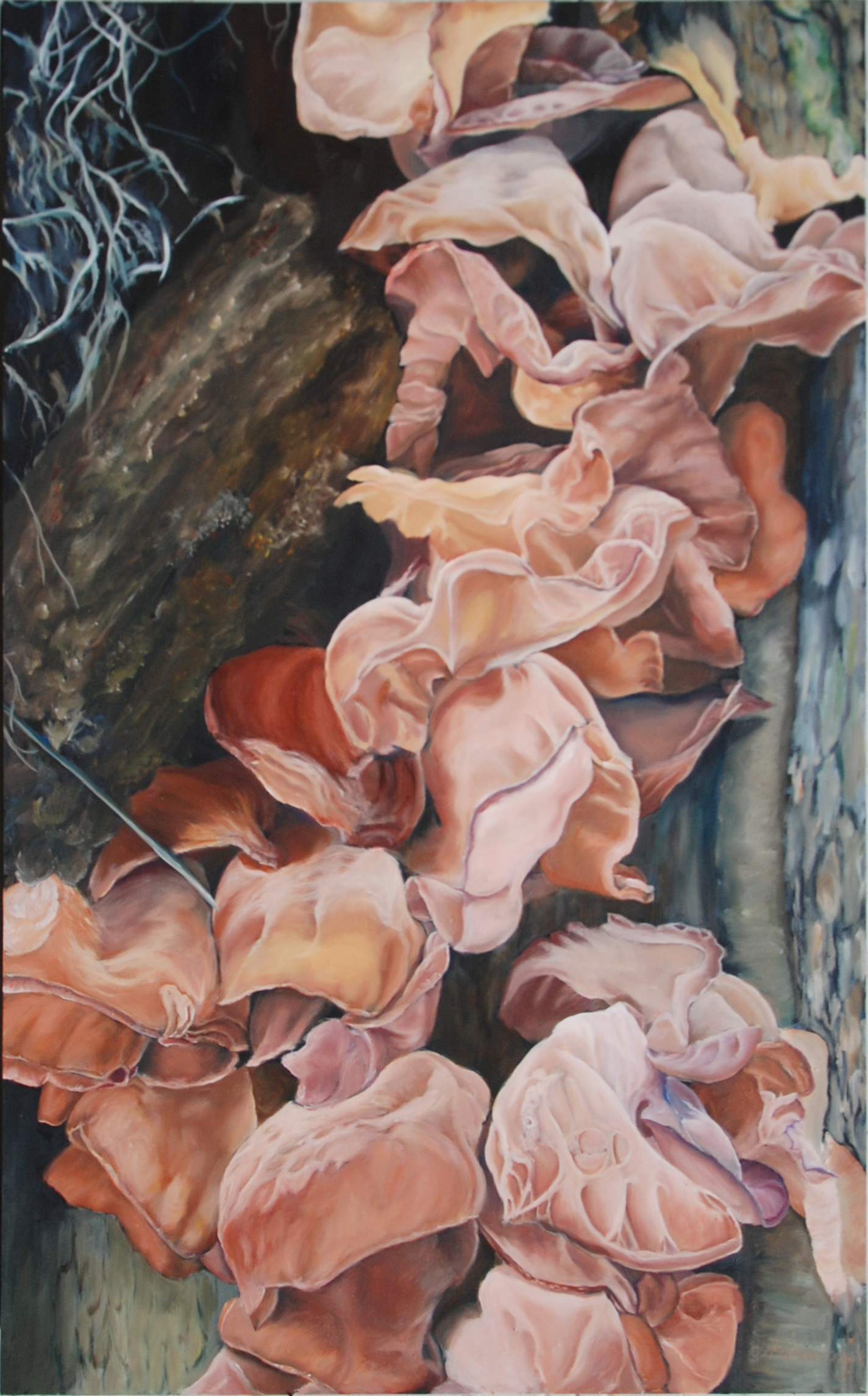 "Tree Ears  oil on canvass; 48"" x 36""; 2014  $1000.00"