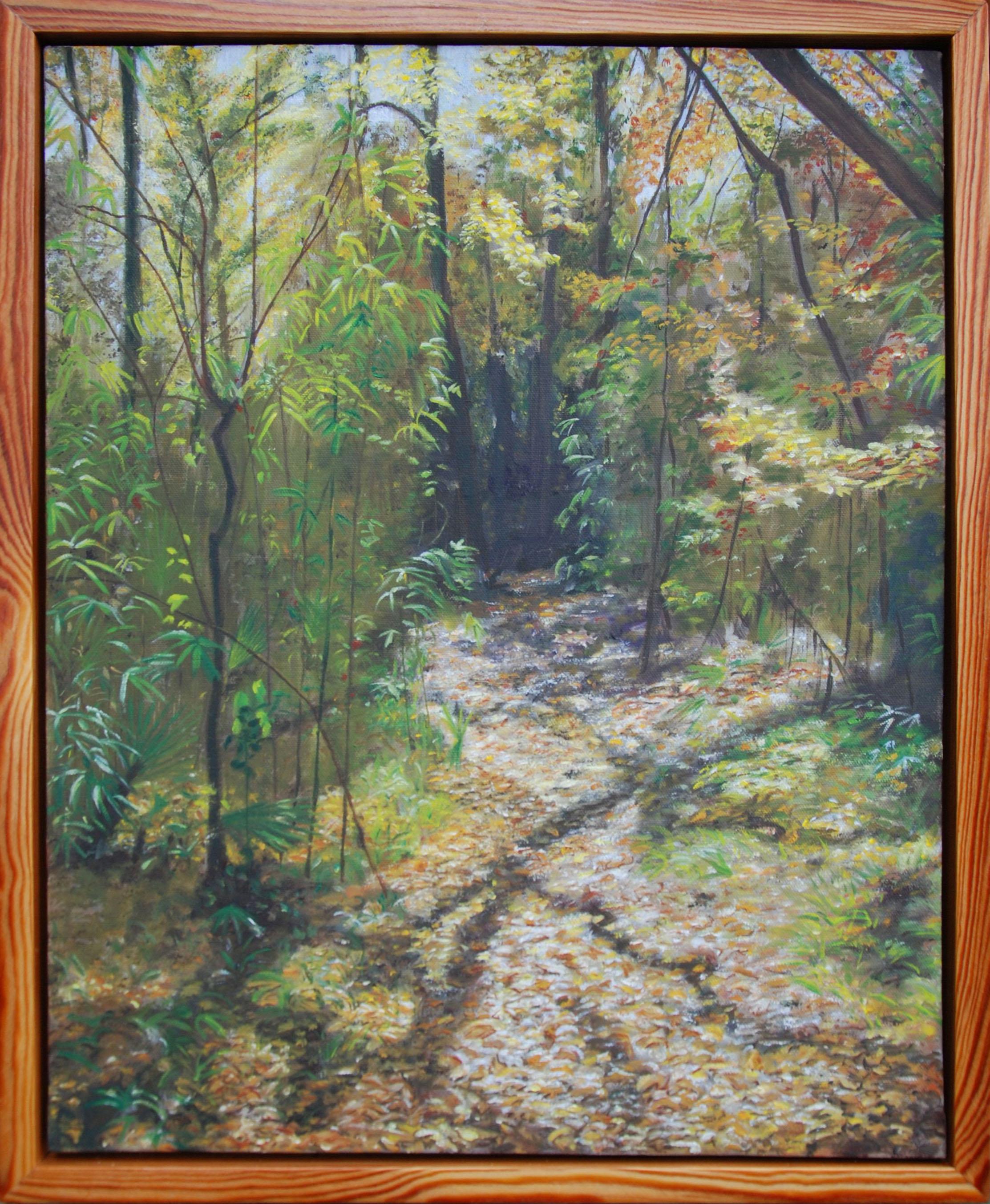 "An Autumn Walk Through San Felasco Hammock #1 of 6.  oil on canvas, 22 x 18""; 2010  sold"