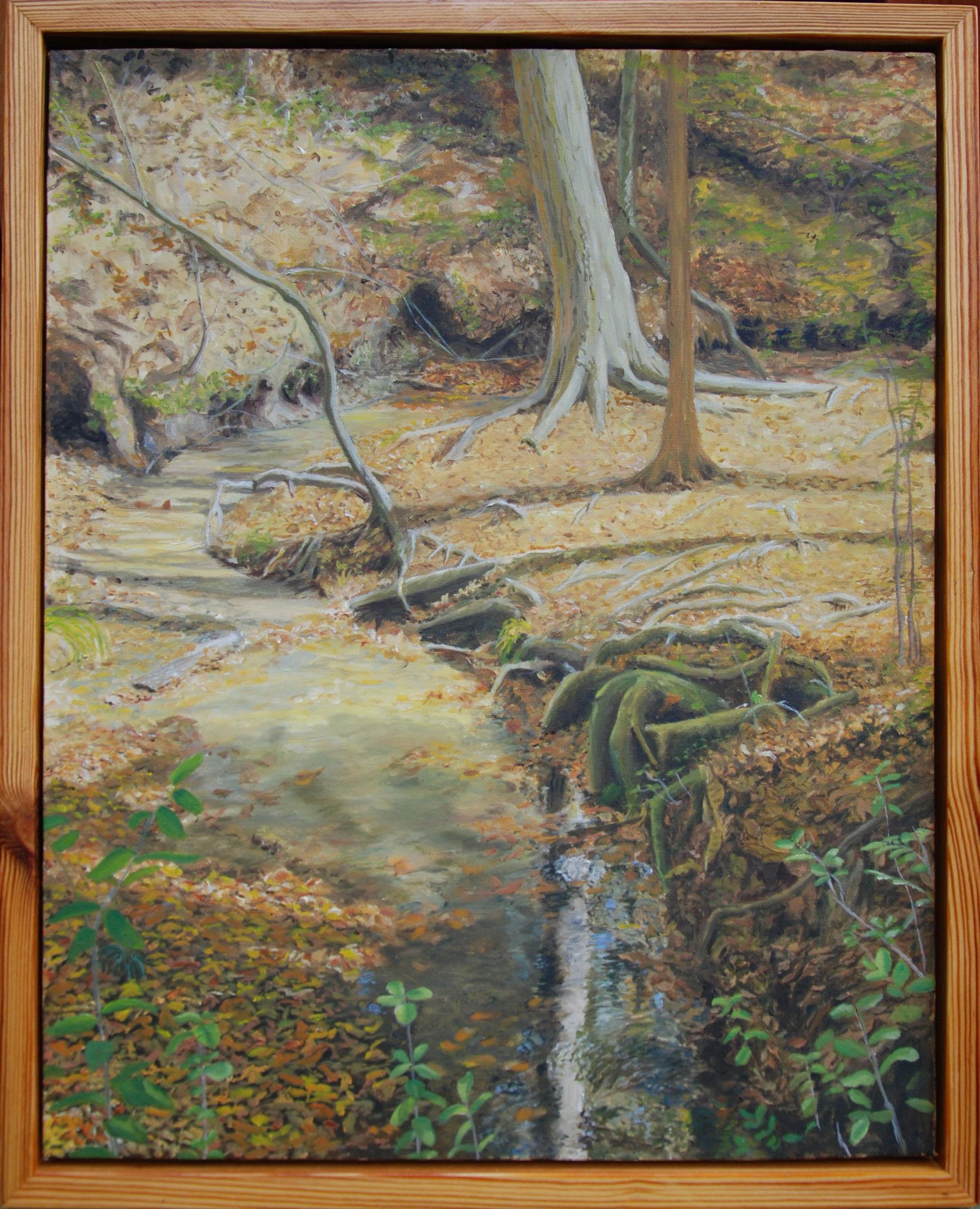 "An Autumn Walk Through San Felasco Hammock #4 of 6  oil on canvas, 22 x 18"", 2010; sold"