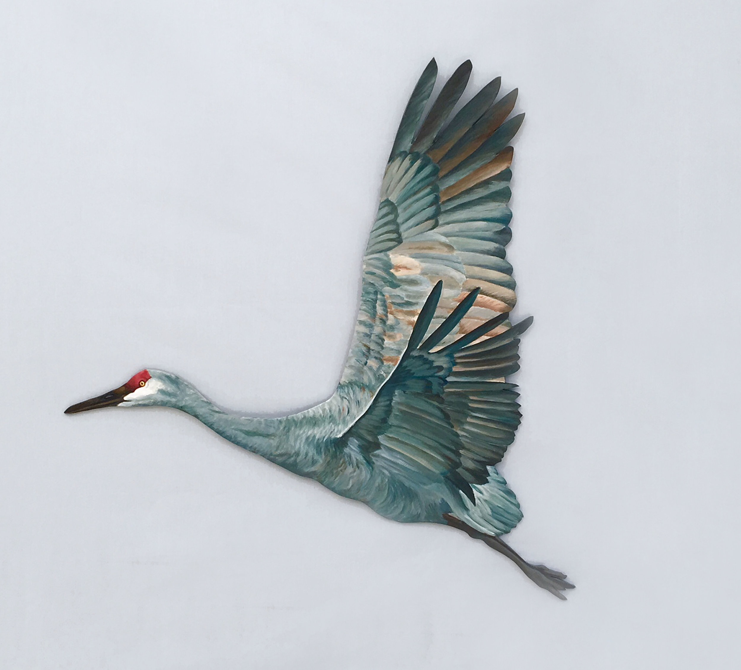 """Sandhill Cut-Out #4L  indoor/outdoor acrylic on 1/4"""" marine grade plywood; 31"""" x 31""""; 2017  360.00"""