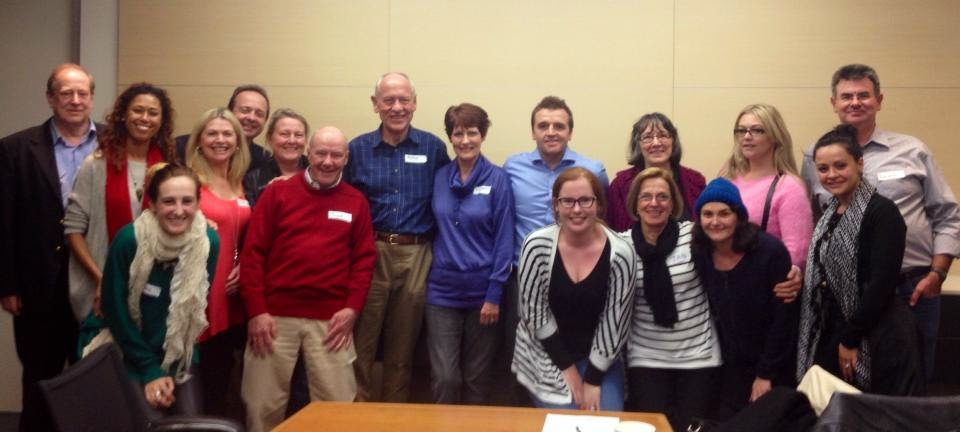 The wonderful people from my first support group meeting (and the handsome man on the far right is my dad)