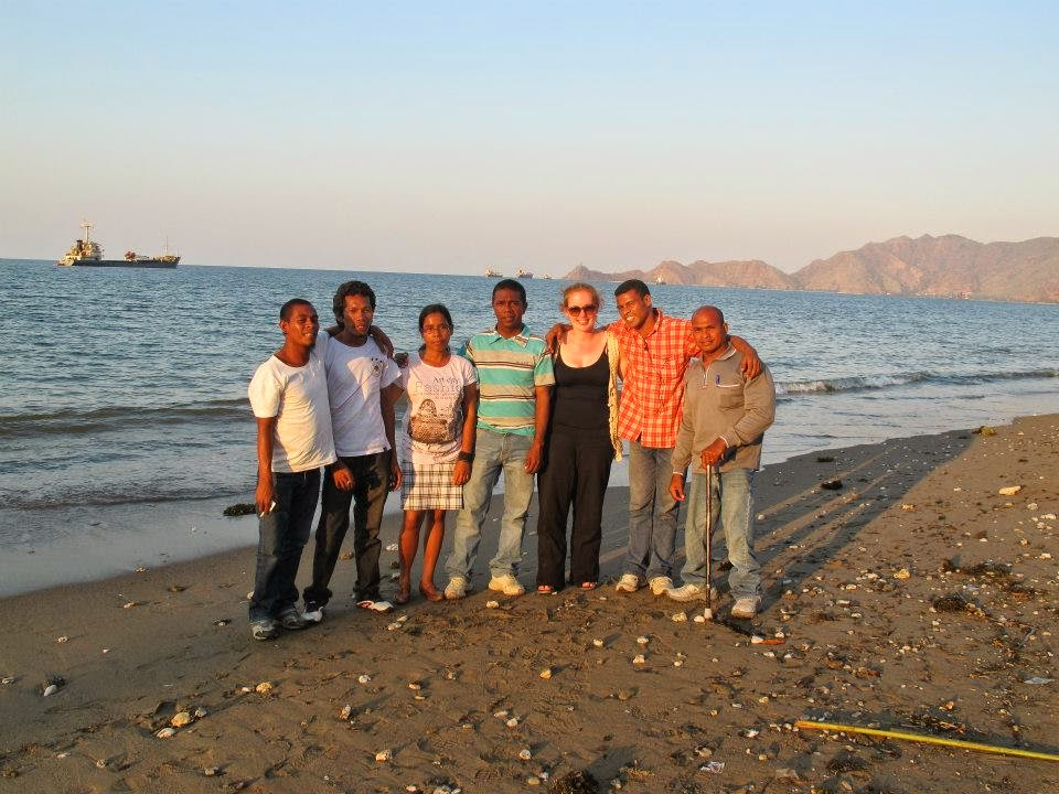 My colleagues in East Timor.