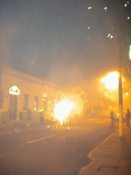Christmas fireworks in Guatemala.