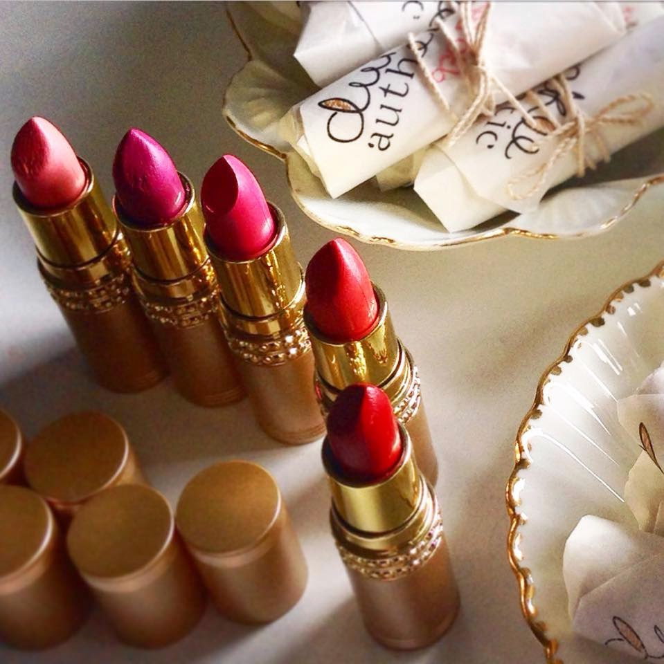 The beautiful Dunkle Authentic lipsticks.
