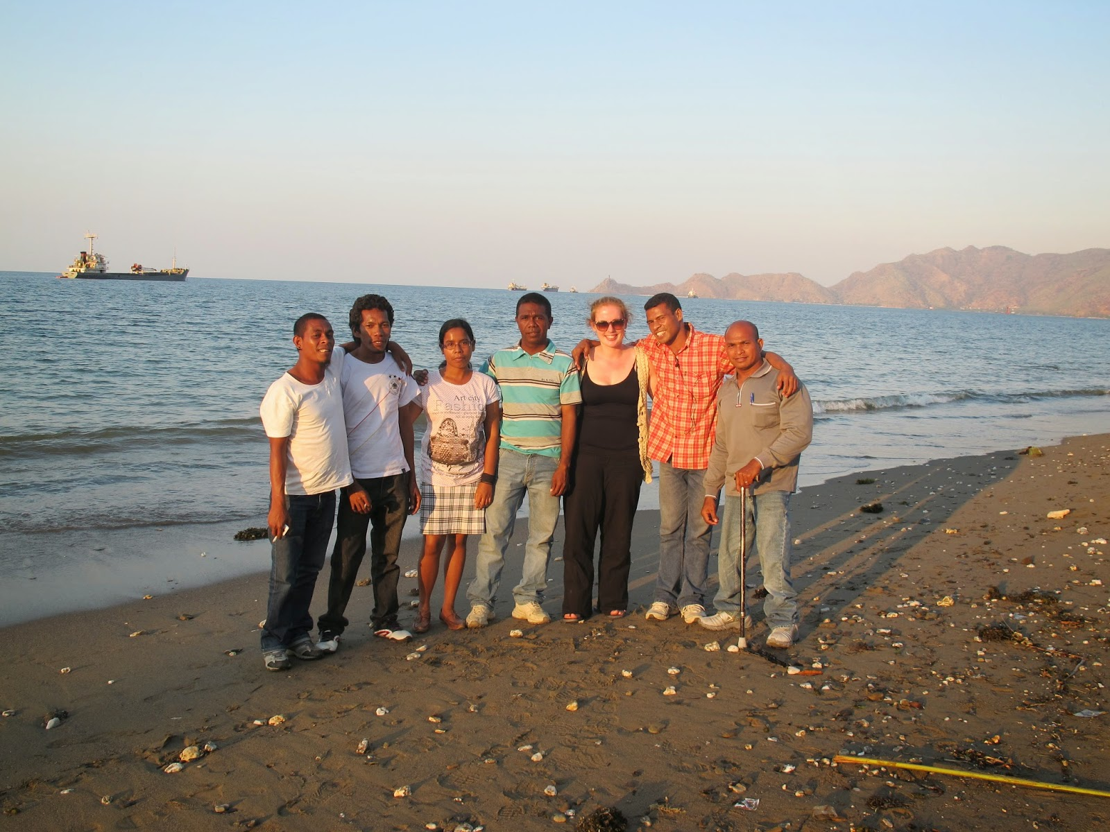 With my wonderful colleagues in East Timor.