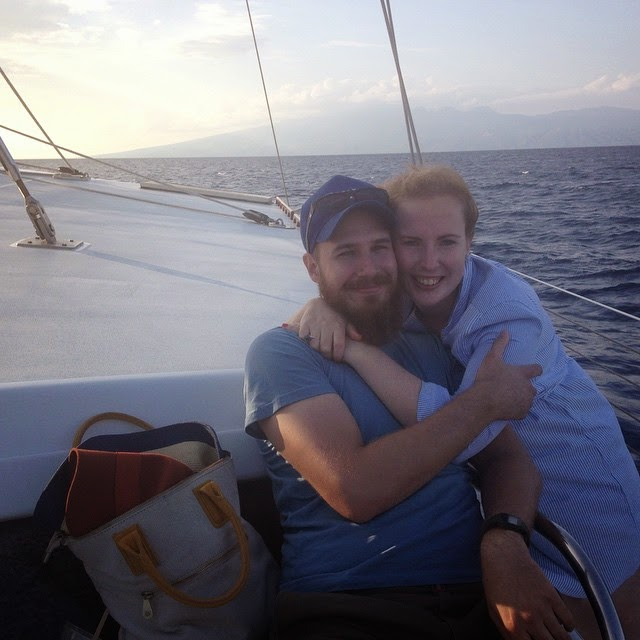 Serge and I on our most recent adventure - back to reality now!