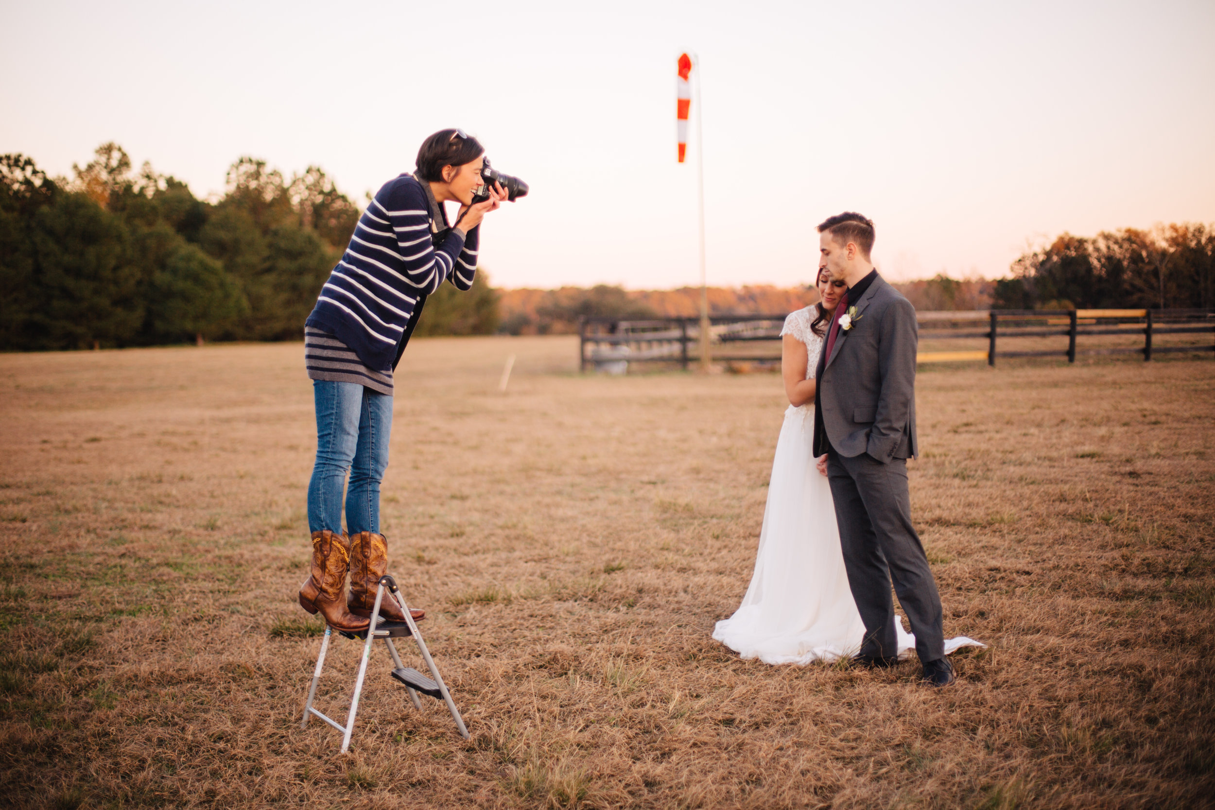 Behind the scenes (Photo credit:  Fiddlehead Photography )