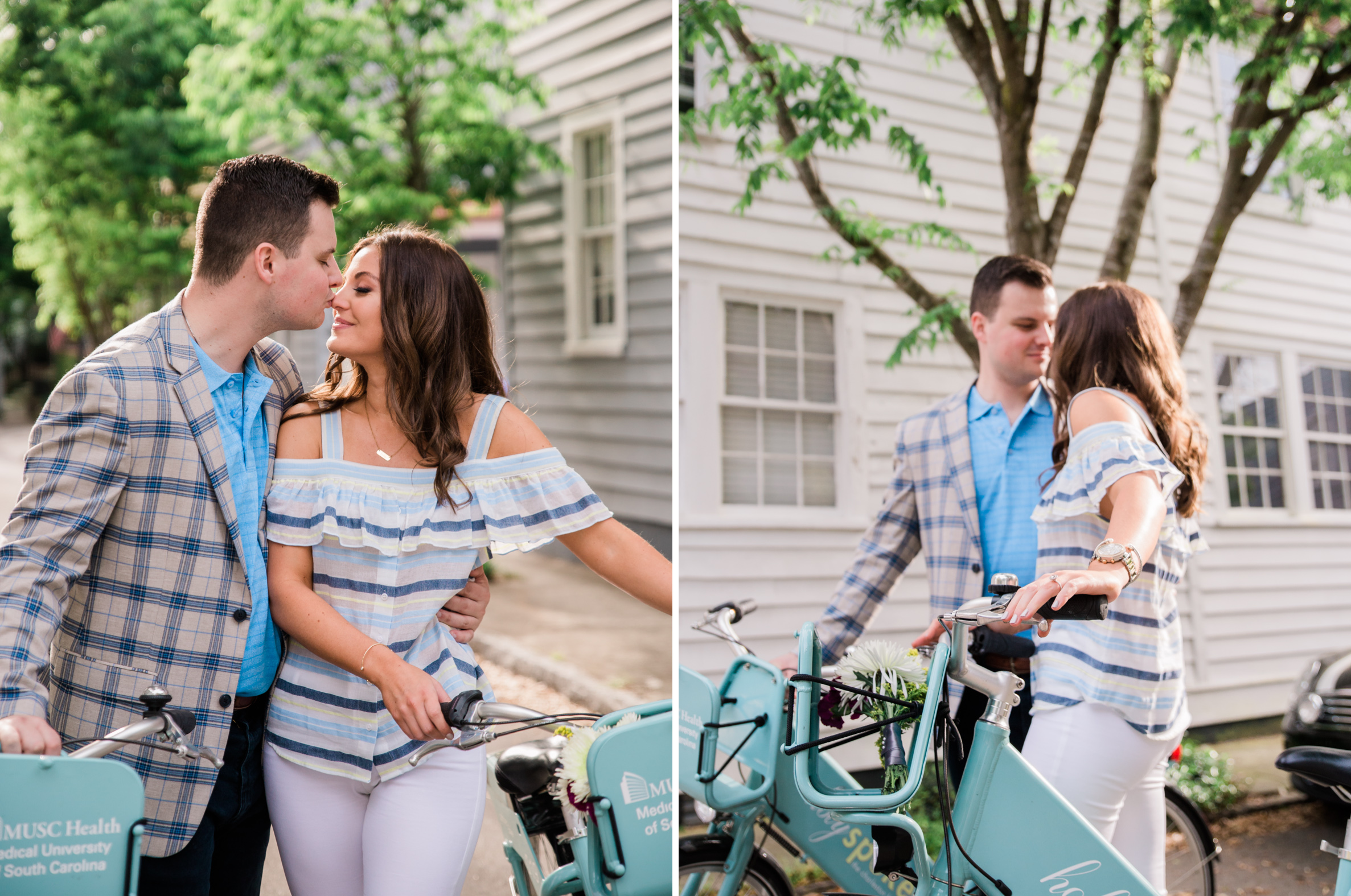 charleston downtown engagement session