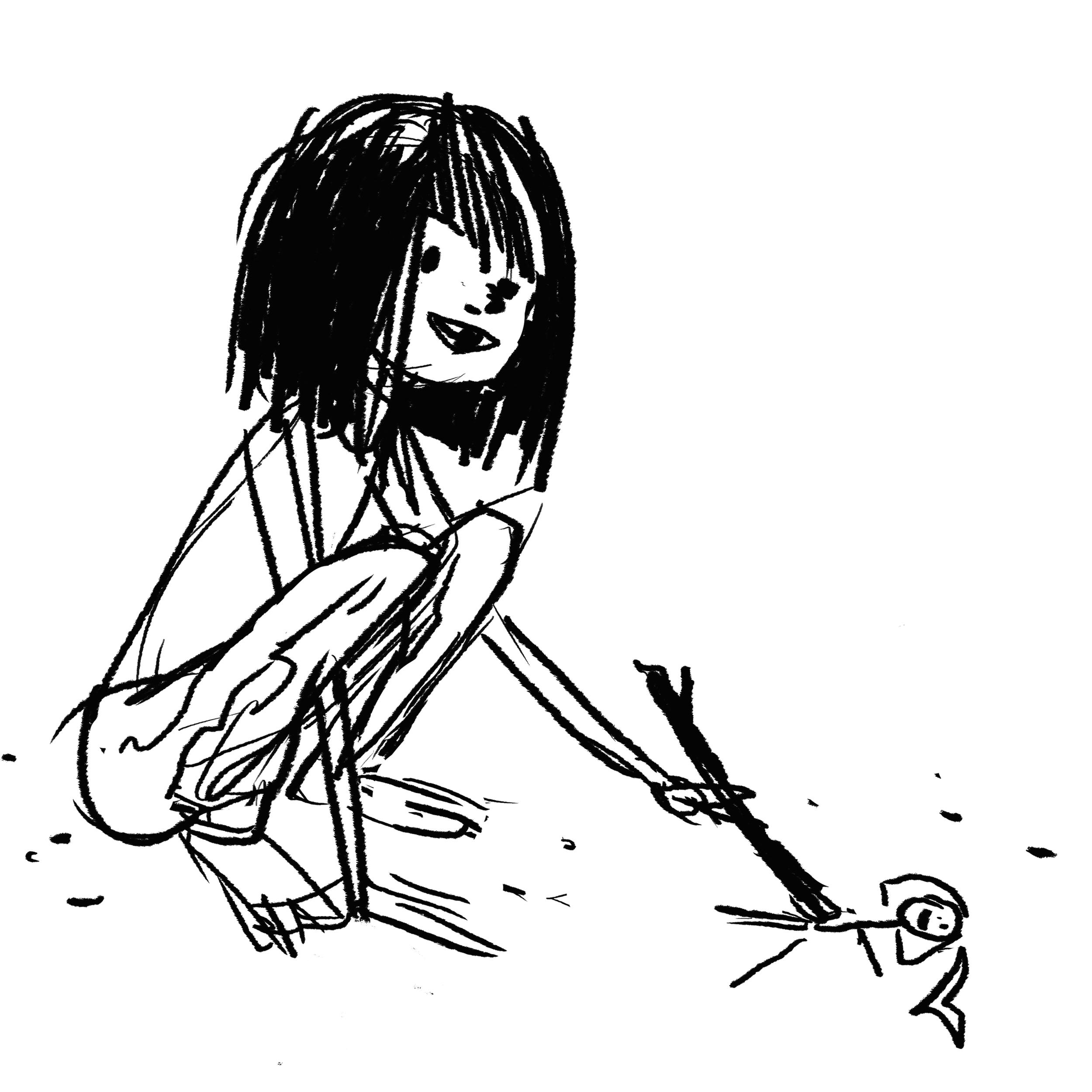 Development sketch of Lily.
