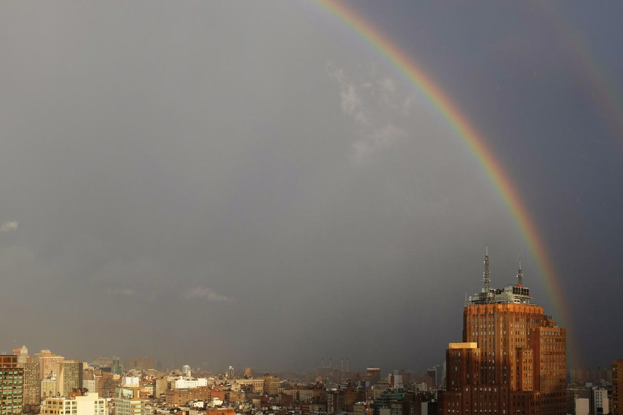 Rainbow over Manhattan - January 10th, 2016