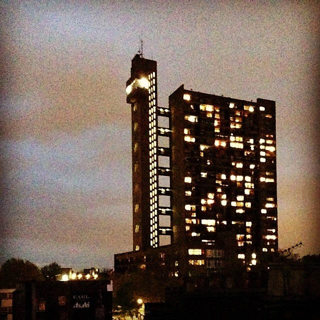 Epic view of Trellick Tower at @onefinestay home.