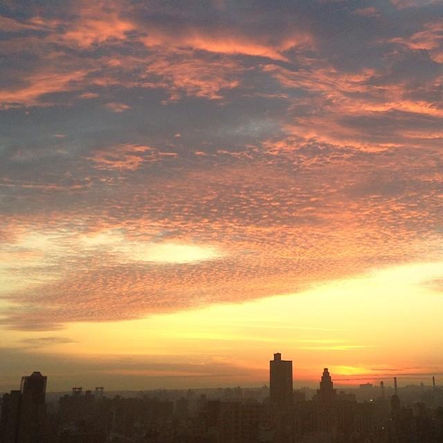 Sunrise #nyc #nofilter