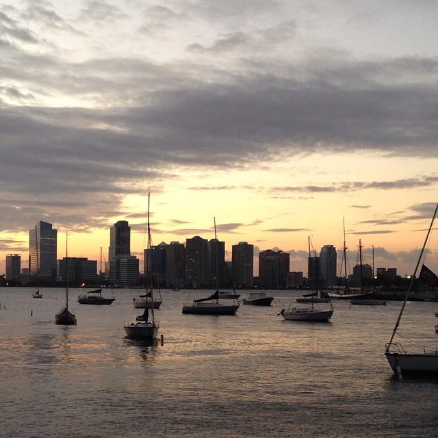 October Hudson sunset #nyc