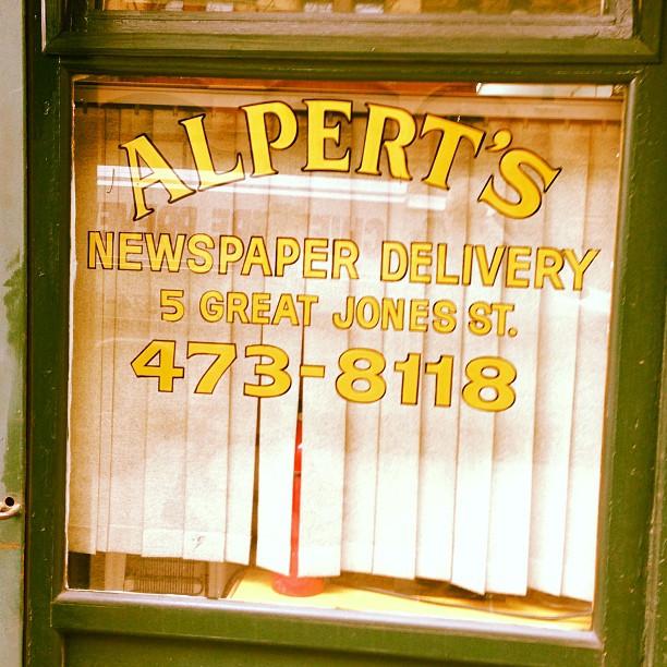 Alperts on Great Jones Street #noho #nyc