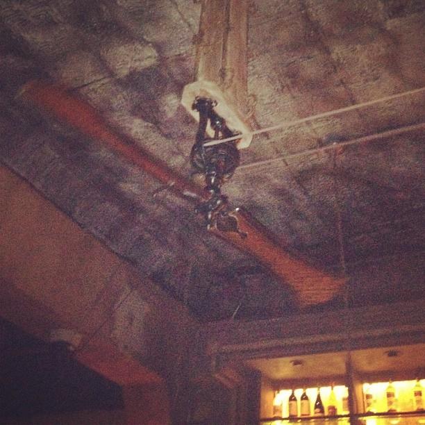 Fan on a pulley in Kingston Hall (Taken with  Instagram )
