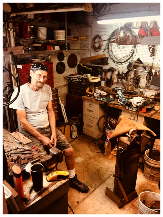Richard in his shop, Photo credit: Angel Kulynych