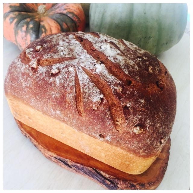 Full Moon Baking Club's October 2018 bread: Squash + Maple + Walnut Loaf