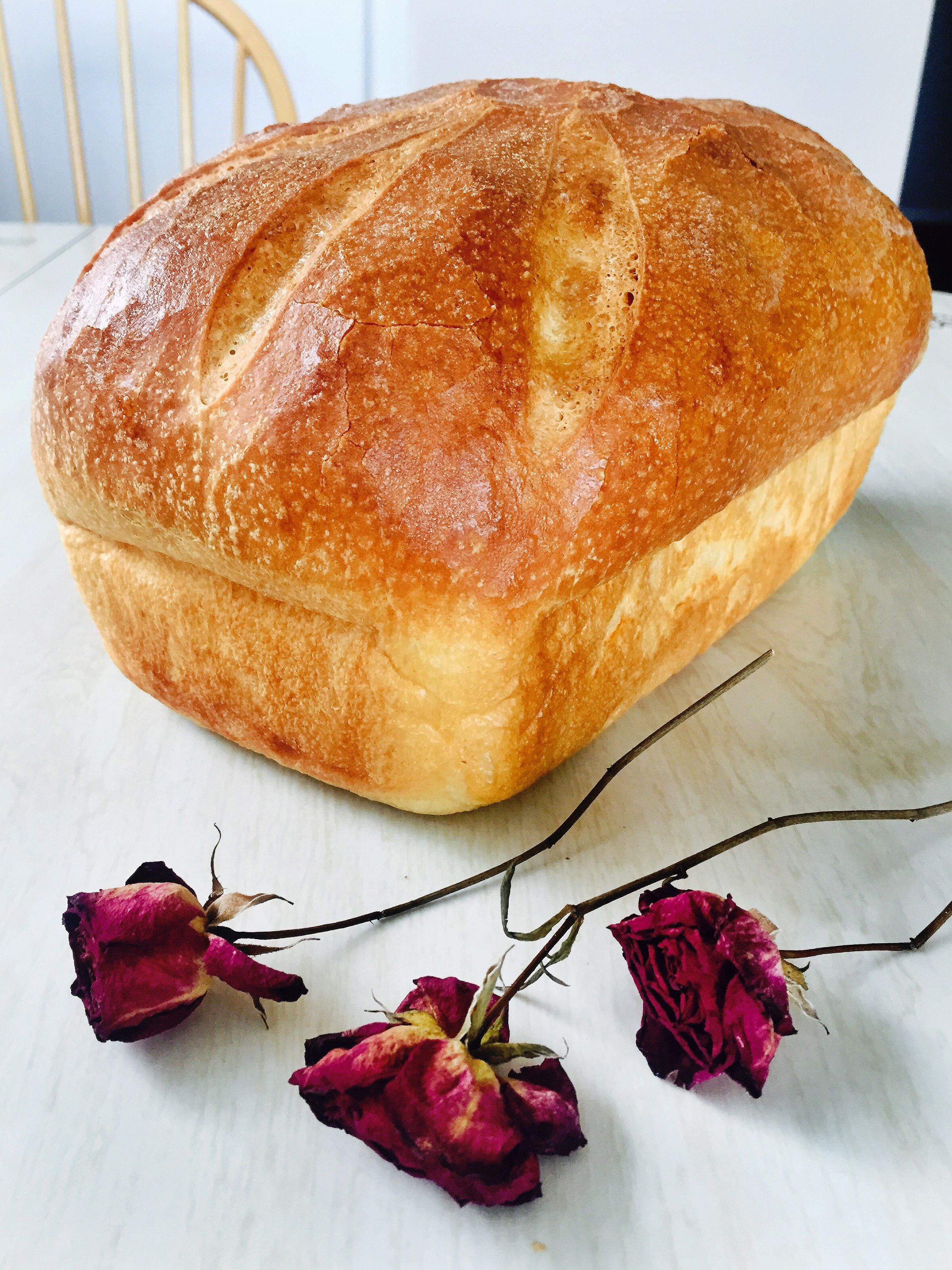 The Wholesome Loaf is a bread recipe celebrating the full moon in June by the Full Moon Baking Club.