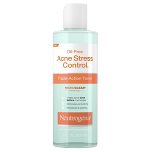 Neutrogena Acne Stress Control Toner - I use this toner at night to remove any excess dirt and stress from the day.