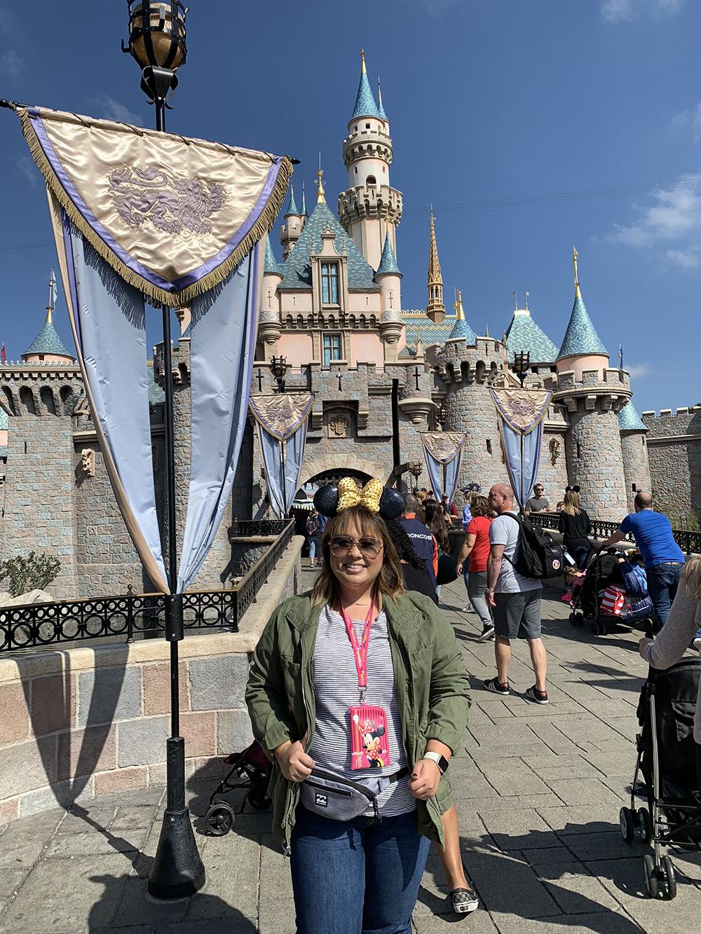 10/08/18 — In front of Sleeping Beauty's castle!