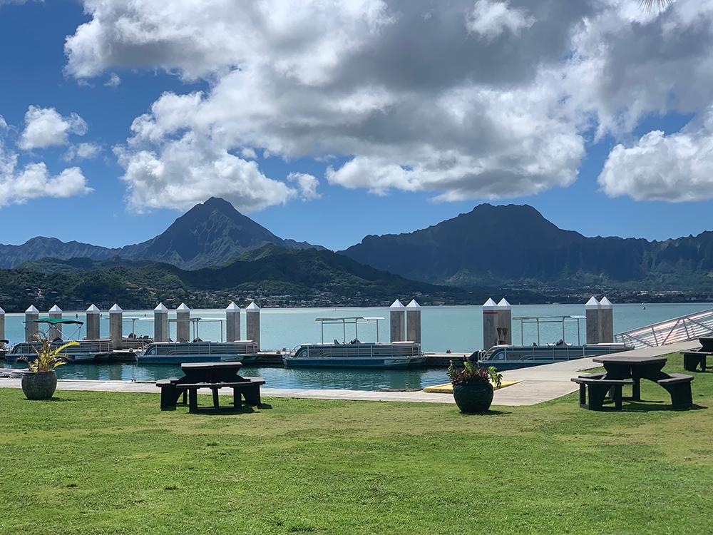 The docks before Kaneohe Sandbar.