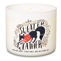 Bath & Body Works Sweater Weather 3-Wick Candle