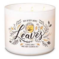 Bath & Bodyworks Leaves 3-Wick Candle