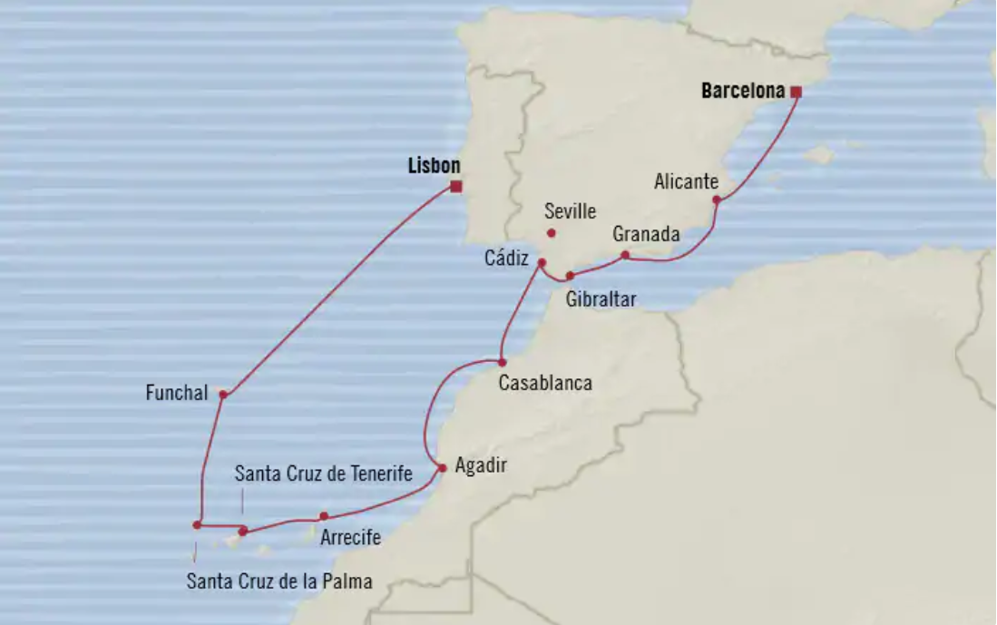 Oceania Itinerary 12-Day Lisbon to Barcelona May 1 - May 13, 2020.PNG