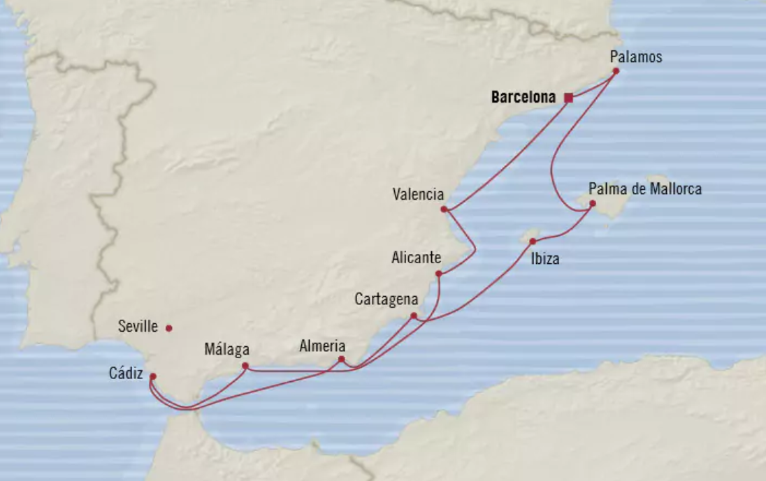 Oceania Itinerary 10-Day Barcelona Round-Trip June 6 - June 16, 2019.PNG
