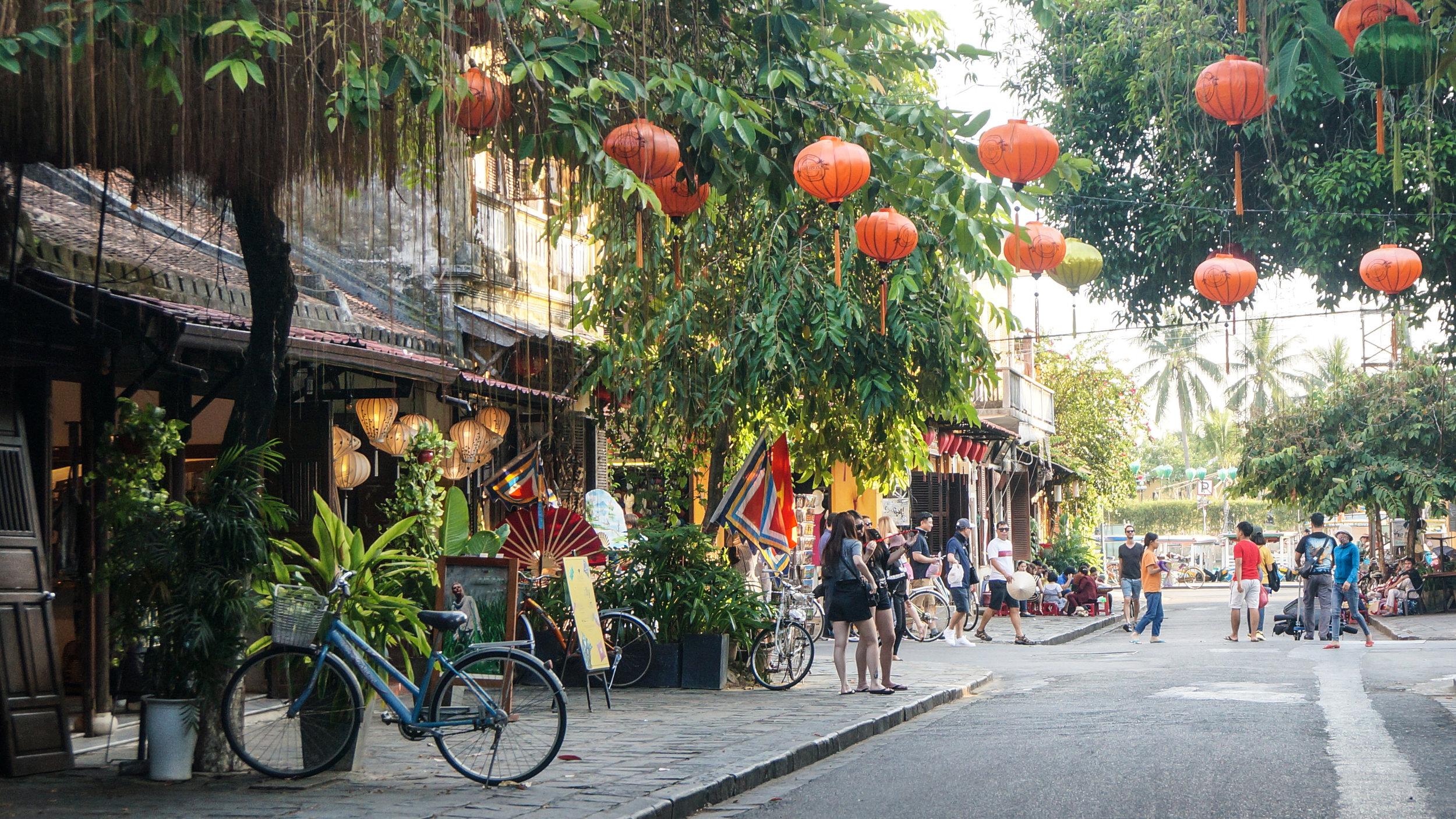 Straße in Hoi An Vietnam