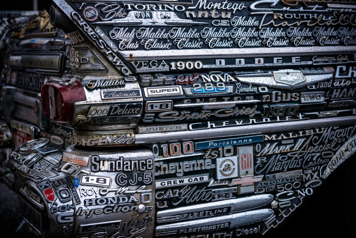 "Vancouver artist Ken Gerberick's 1957 Pontiac Pathfinder ""Art Car"""