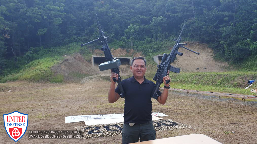 LTC Daniel Vinluan, TWG Head of the PNP Test and Acceptance Committee, after the K3-LMG passes the 20,000 rounds endurance test.
