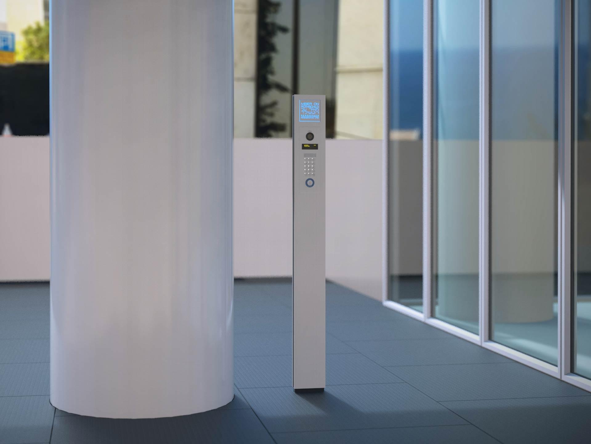 3D rendering of the intercom post.