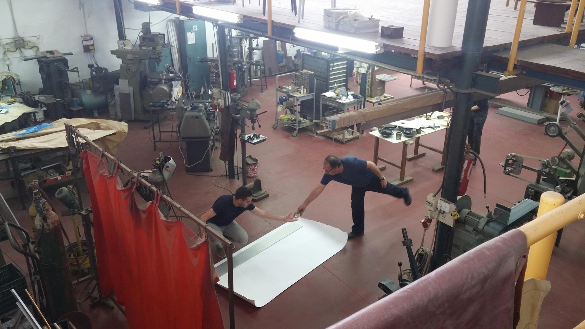 Work In progress in the metal shop