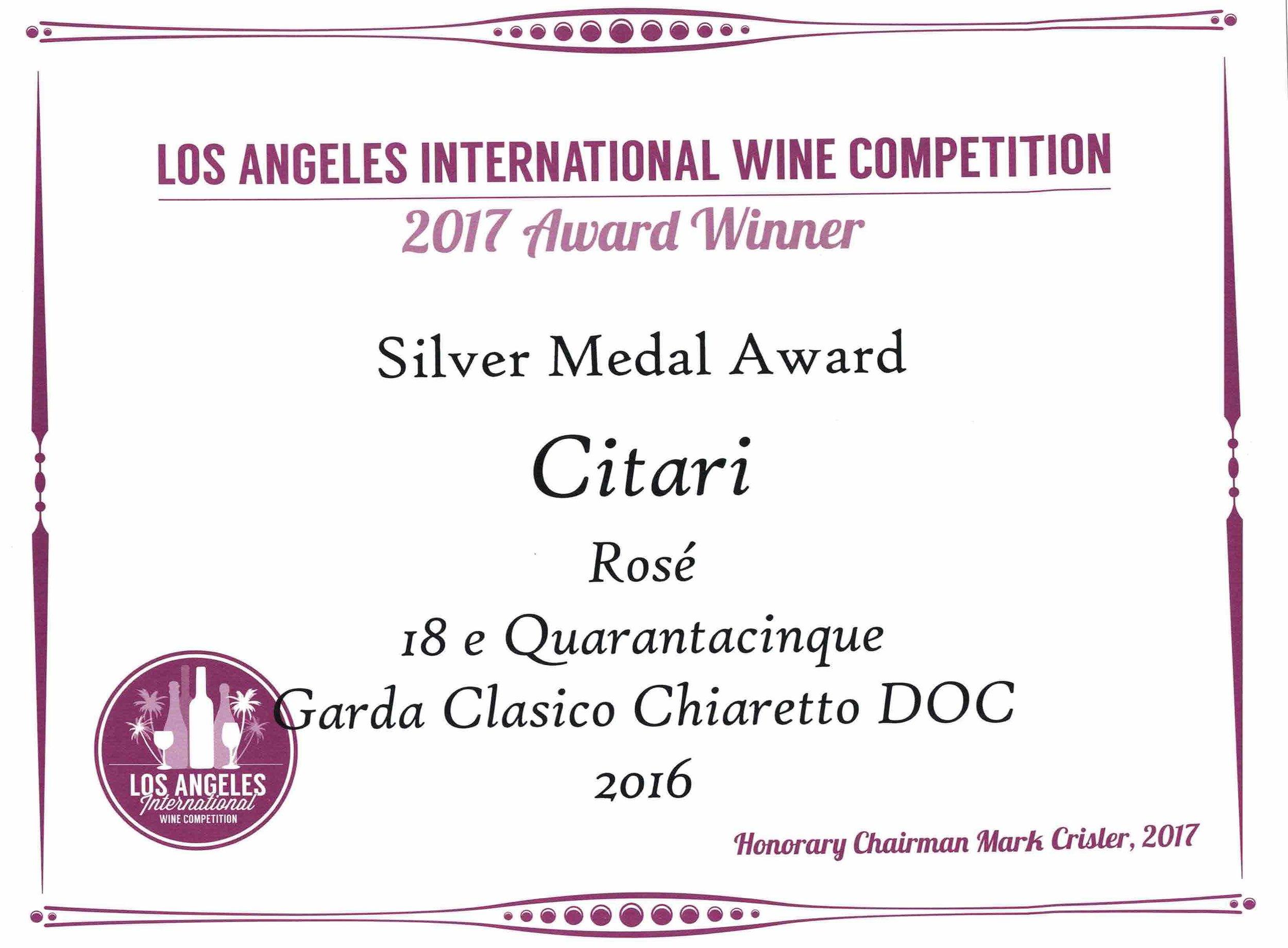 Chiaretto 2016 Silver medal jpg orizzontale.jpg