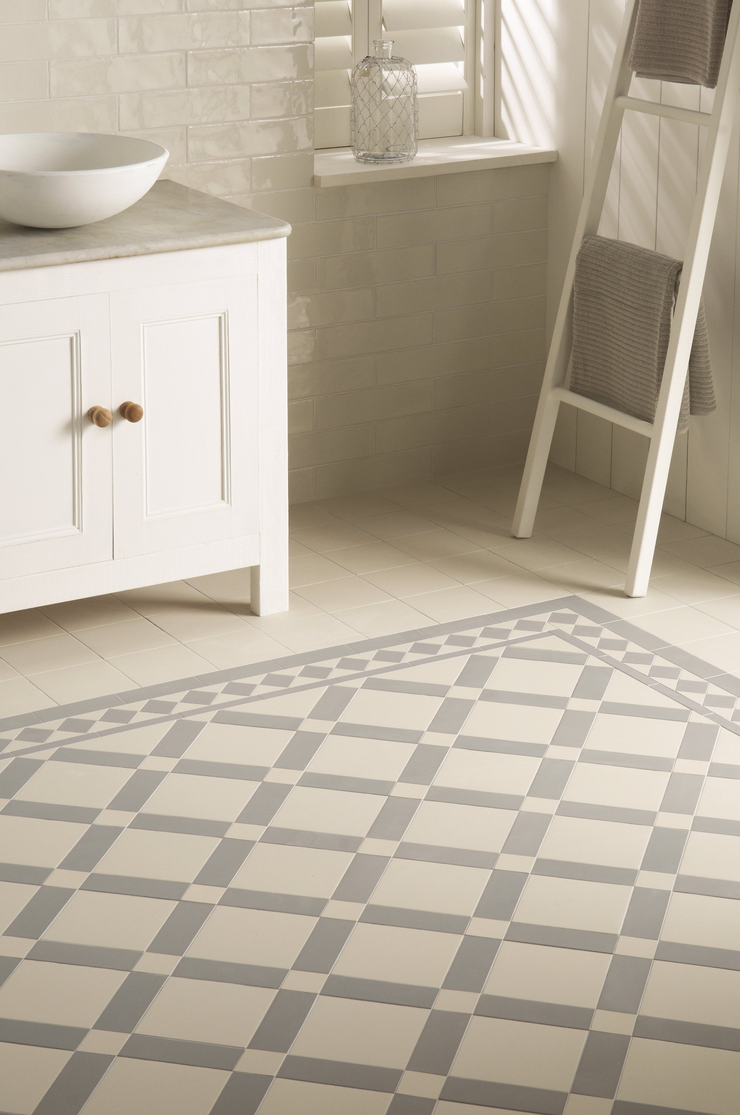 Original Style - VFT - Falkirk  pattern in Dover White and Grey with Winchester Porcelain Arcadian wall tiles.jpg