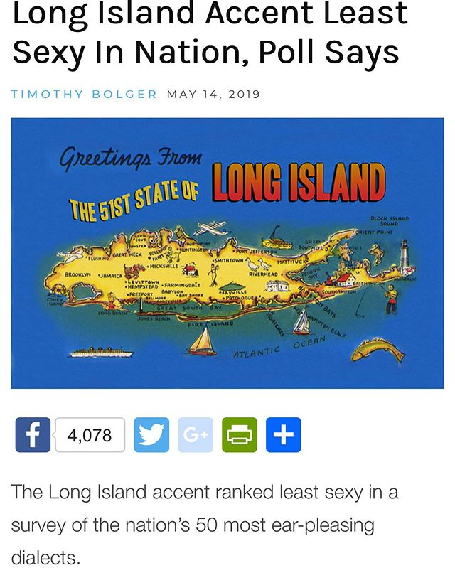 This cannot be true.  First, we don't have an accent (everyone else does) and two, I don't know anyone who enjoys the Boston accent. - #gutrxn #longisland #longislandaccent #lawnguyland #longislander #stupidbostonaccent