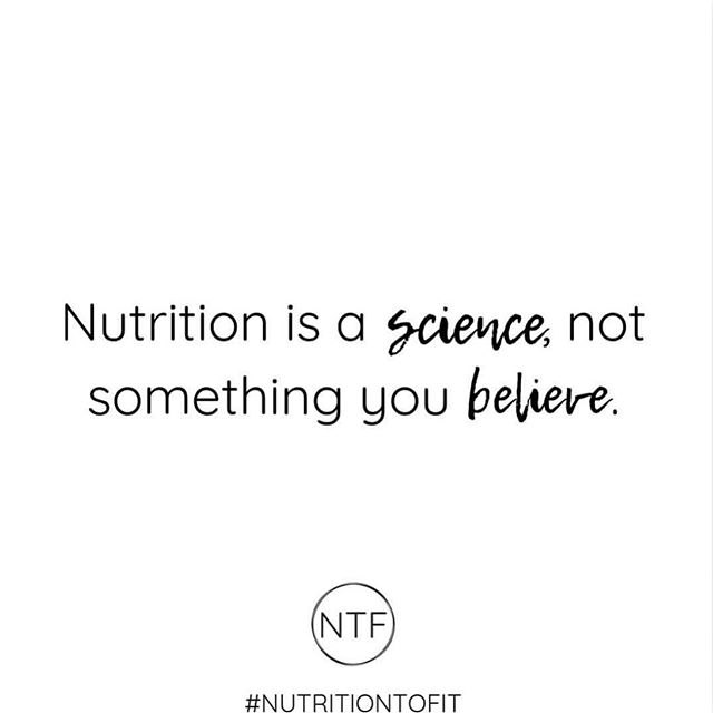 Thank you for the reminder @nutritiontofit‼️ It seems this fact gets lost on a lot of people, especially those who are screaming the loudest. - #gutrxn #nutrition #nutritionfacts #faddietsdontwork