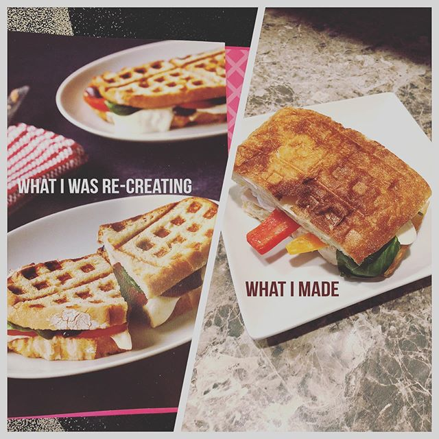 I attempted to make this #wafflepanini but wasn't quite successful. I substituted the #Italianbread for #ciabatta but it was too thick for the waffle maker. - #nailedit #gutrxn
