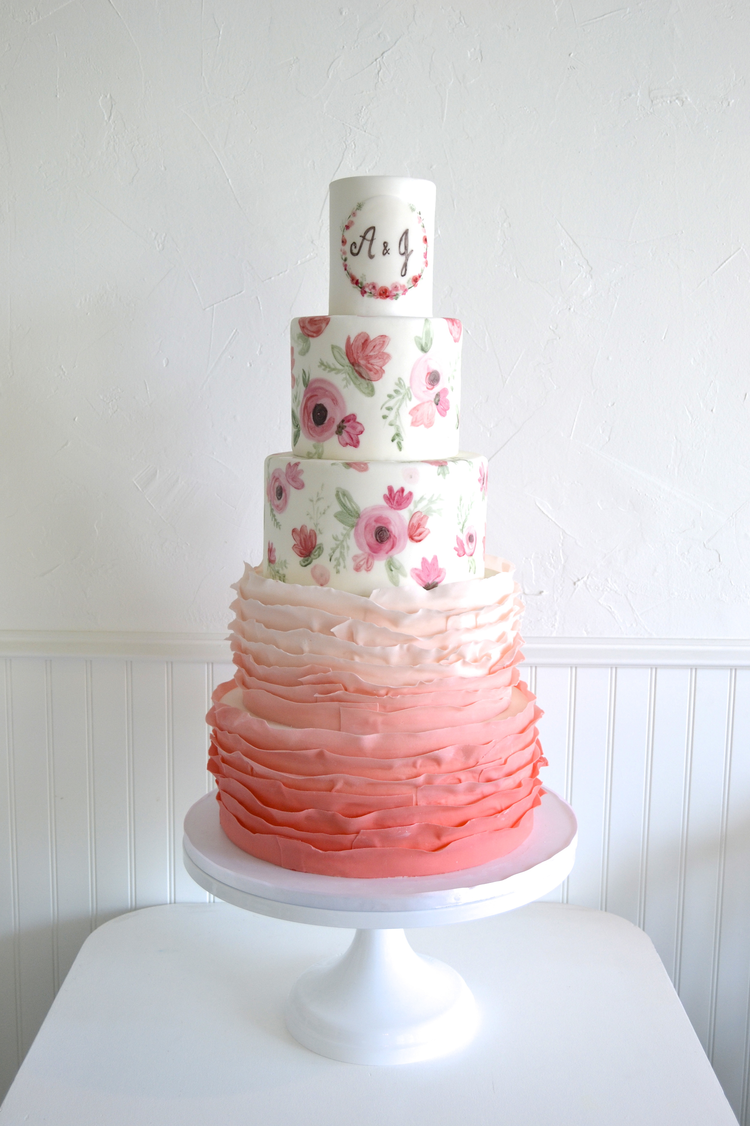 Floral Wedding Cake | The SweetSide | Custom Cakes and Dessert Seattle
