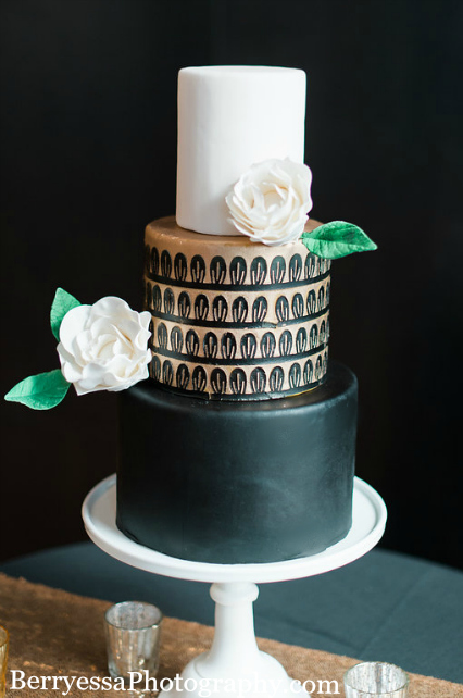 Seattle Wedding Cake, Seattle Birthday Cake, Art Deco Cake, Grooms Cake