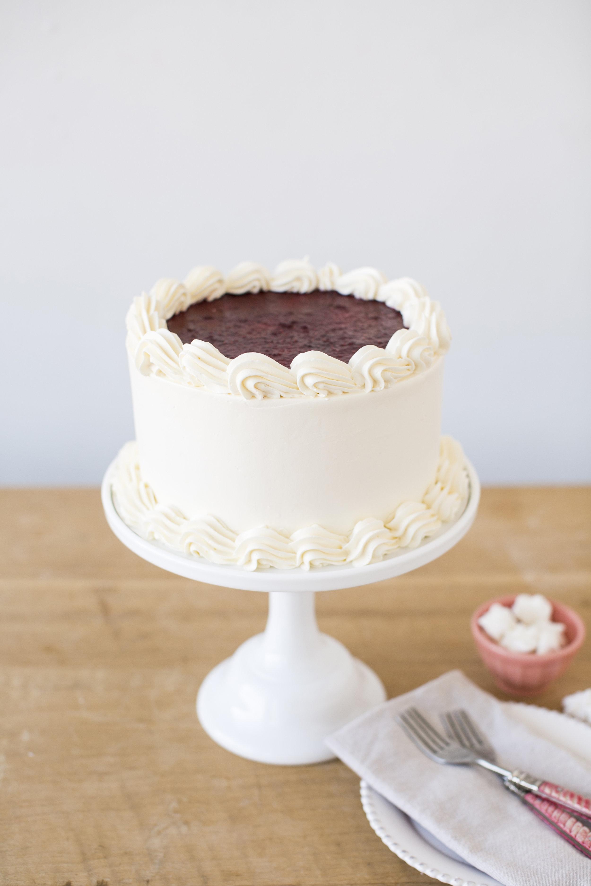 Chocolate Raspberries   Chocolate cake, with ganache and raspberry filling, vanilla buttercream   $50