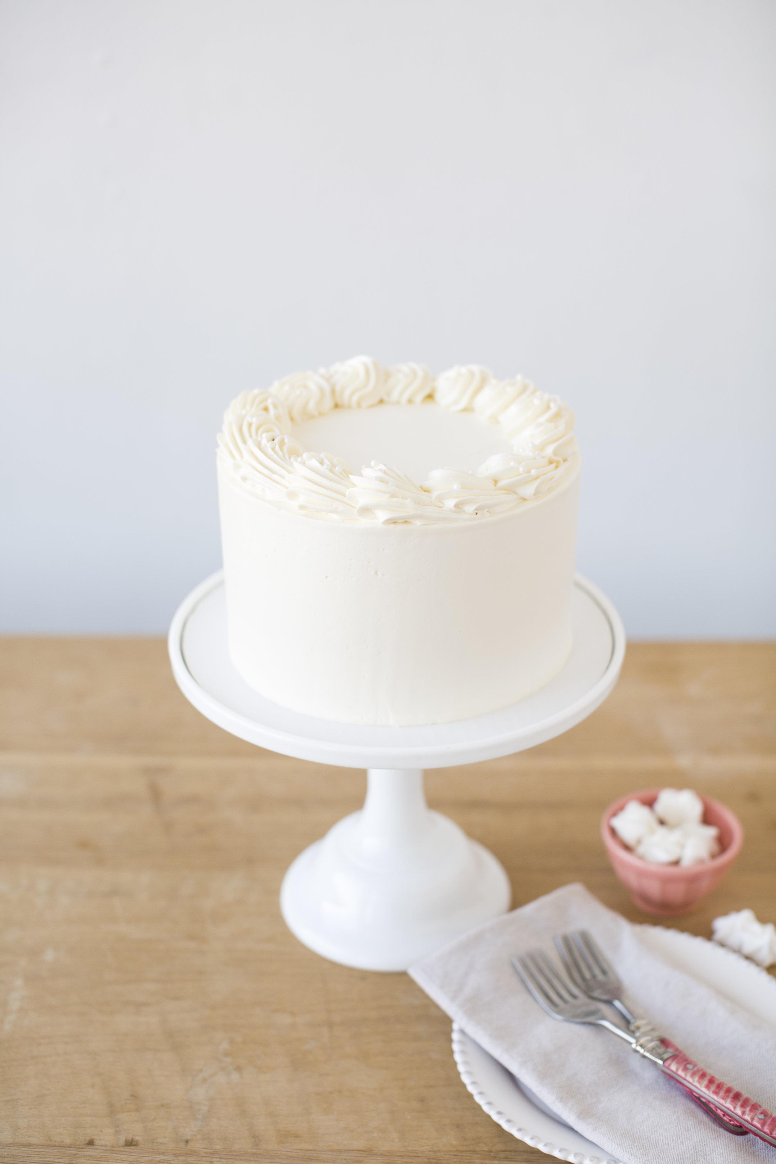 Strawberry Shortcake   Vanilla cake, fresh strawberry and cream filling with vanilla buttercream    $60