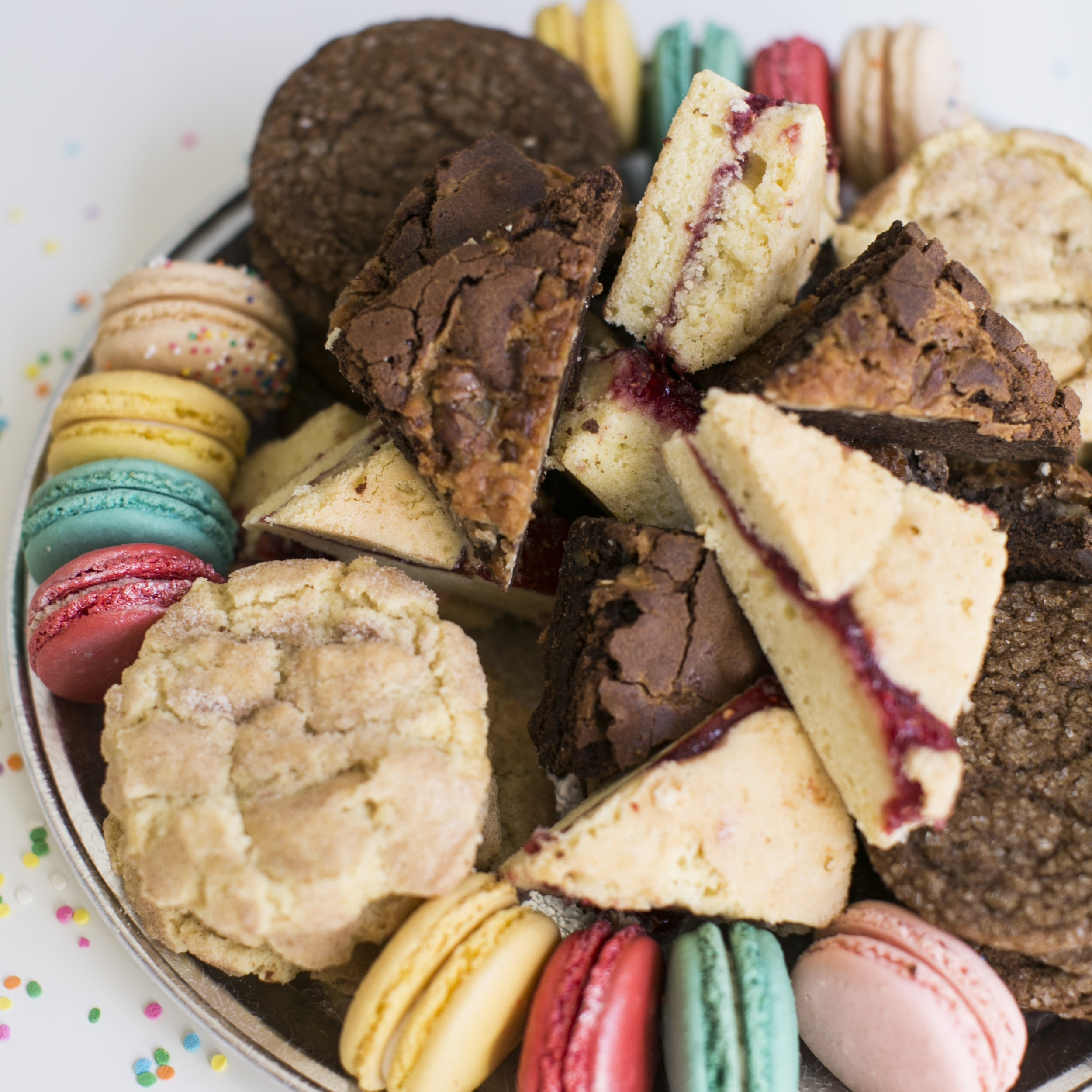 Party Platter  A selection of our best weekly flavors and treats. Approx 50 pieces