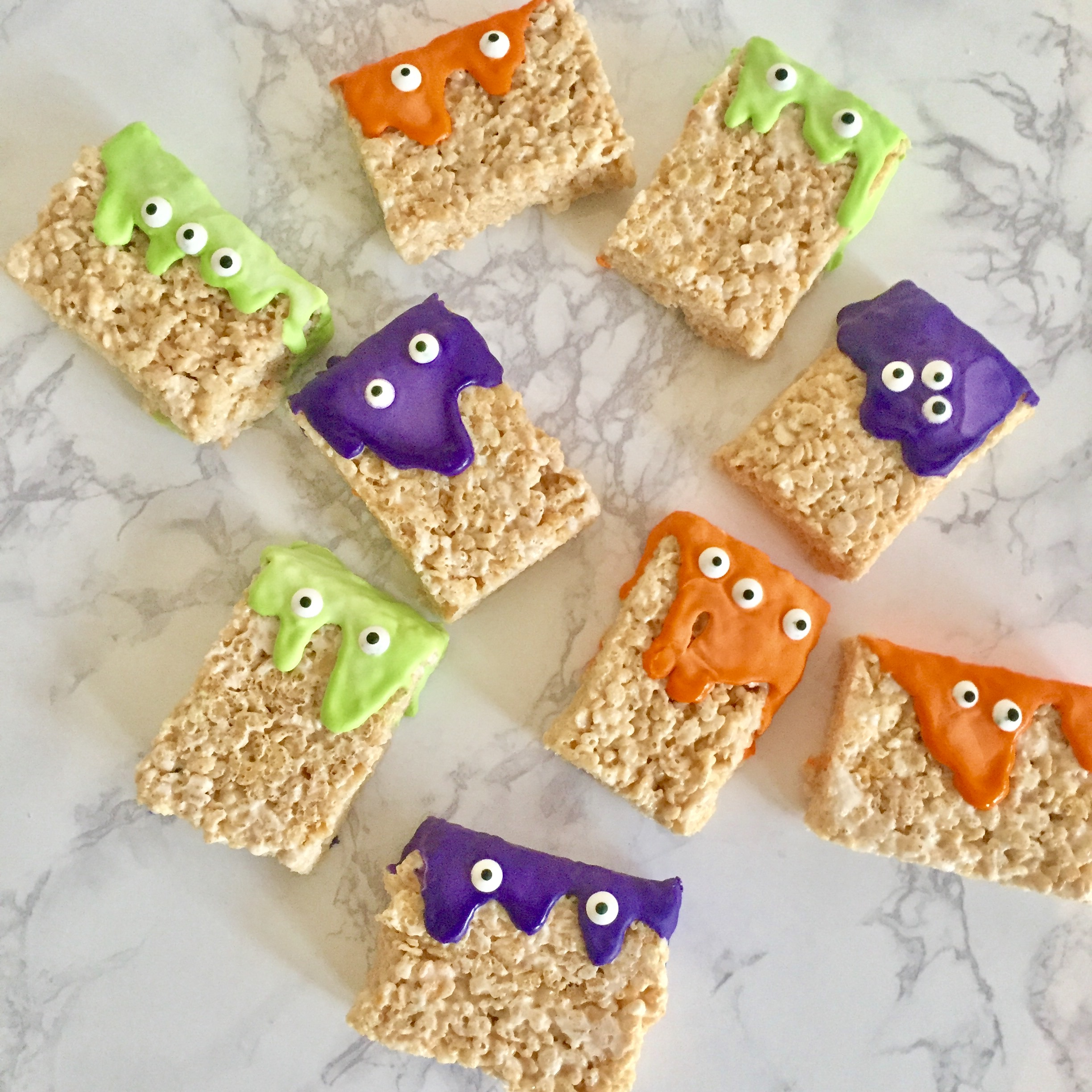 Krispie Monsters  A fun way to celebrate the holiday season!