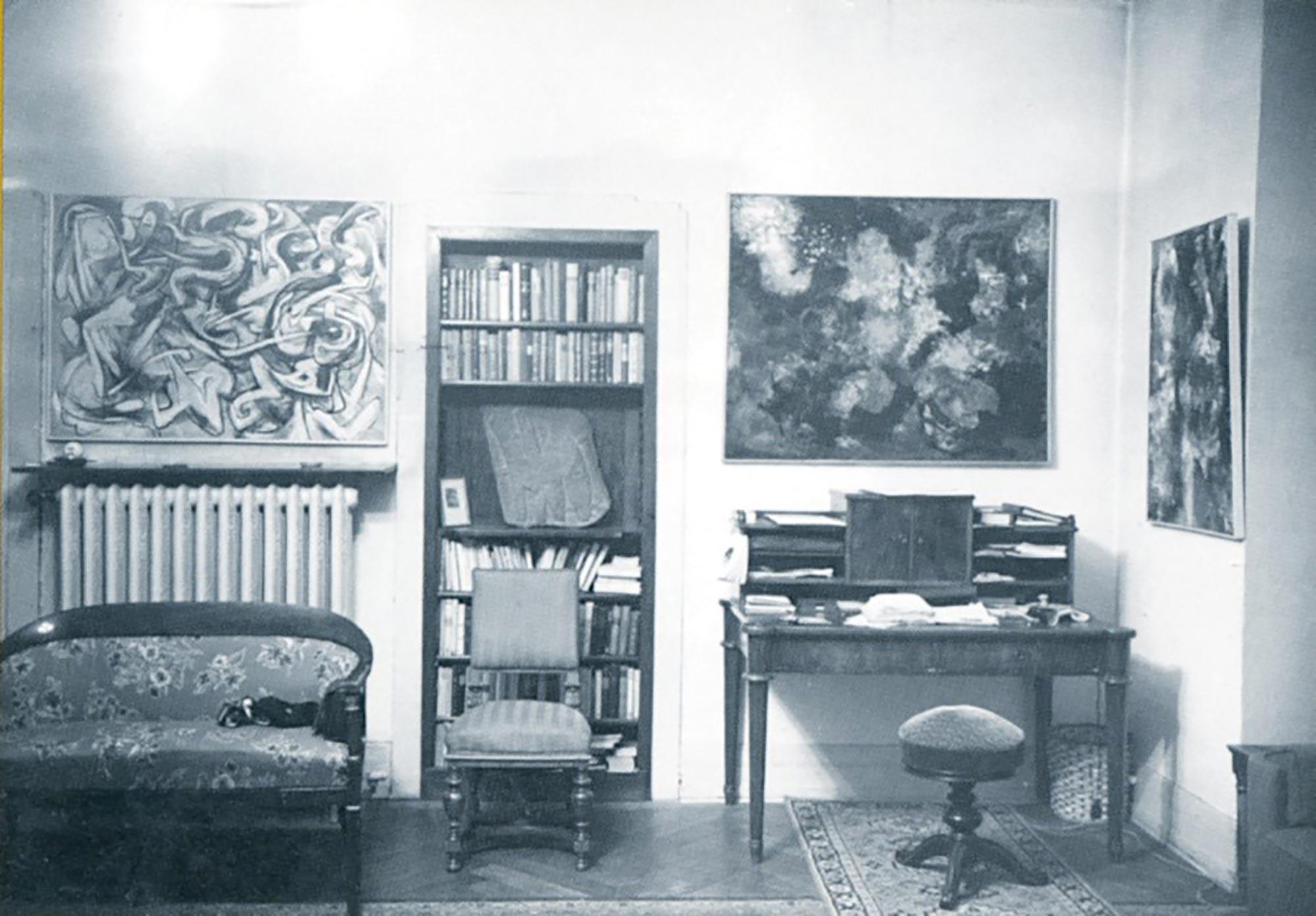 "1 + 2 Zimmergalerie Franck, Ausstellung der ""Neu-Expressionisten"" (Quadriga), Dezember 1952, Nachlass Klaus Franck"