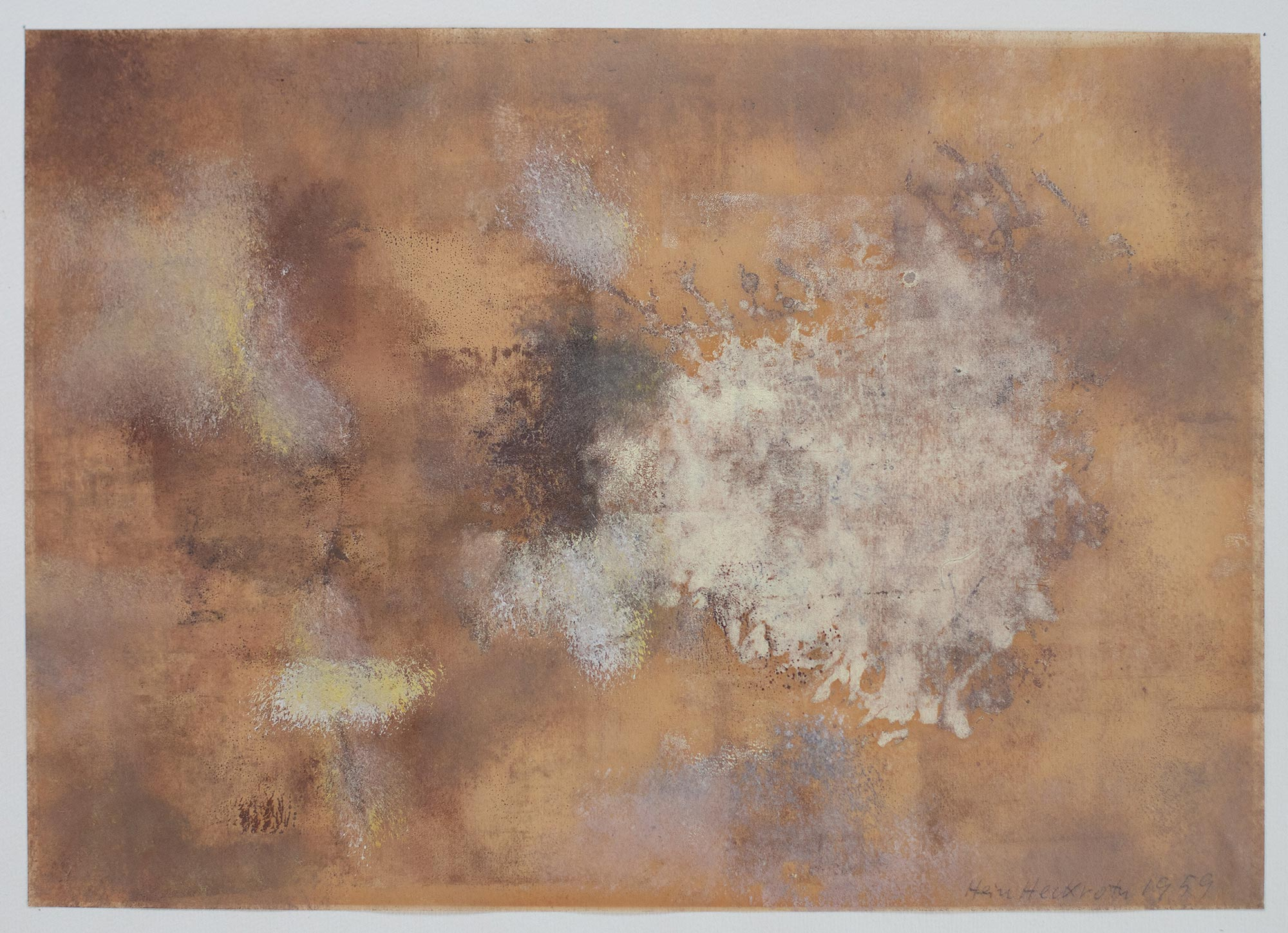 4 Hein Heckroth, o. T., 1959, Gouache, 43,5 × 55 cm, Privatbesitz