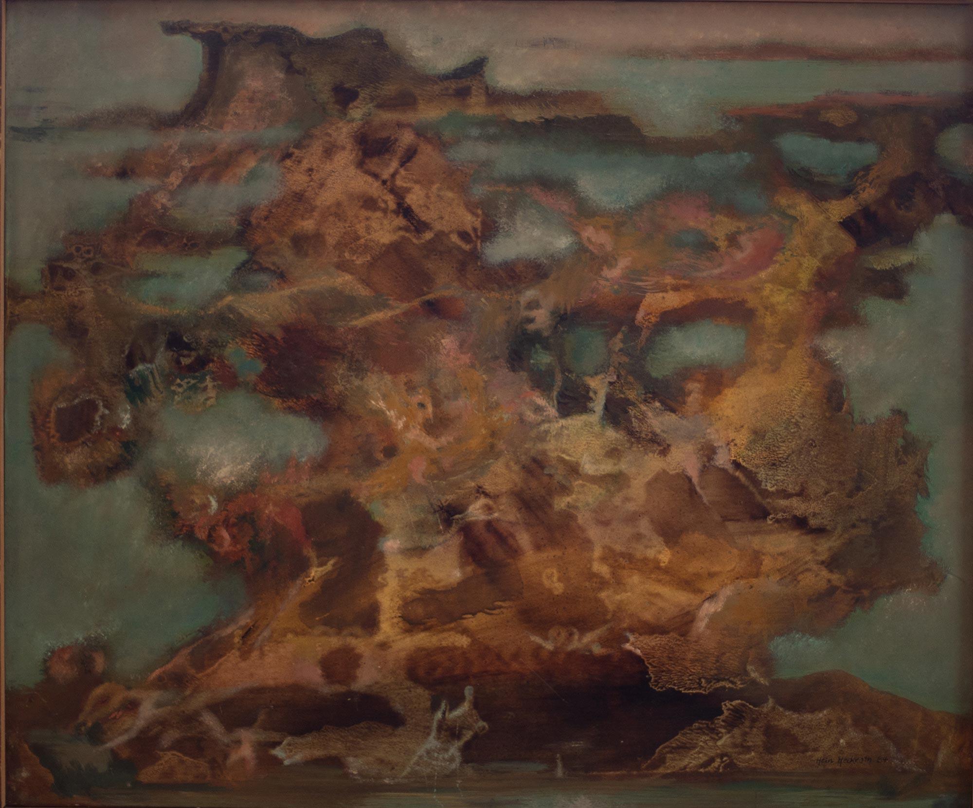 6 Hein Heckroth, Der große Felsen, 1957, Öl auf Holz, 45 x 54 cm, Privatbesitz