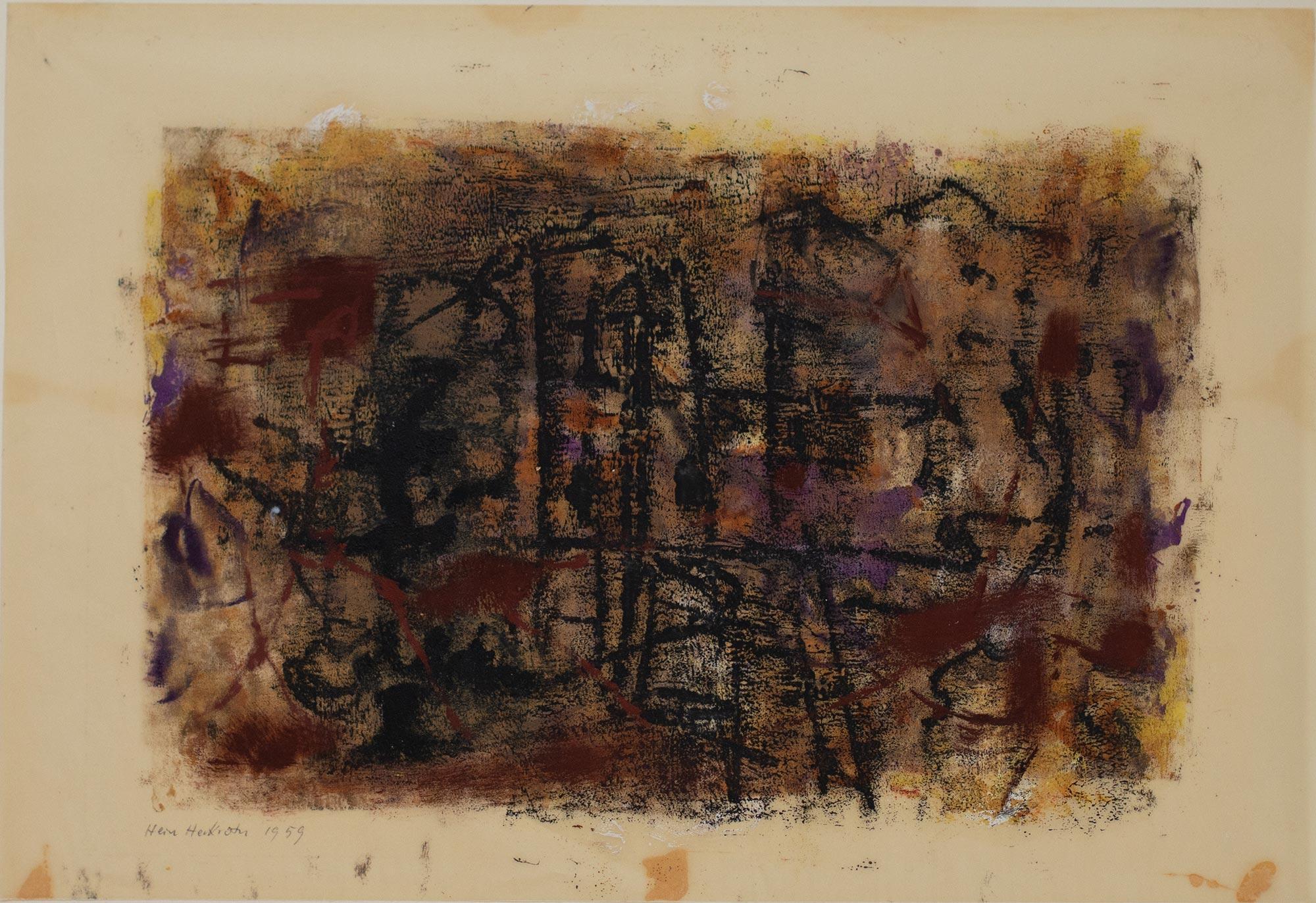 7 Hein Heckroth, o. T., 1959, Monotypie, 29 × 42 cm, Privatbesitz